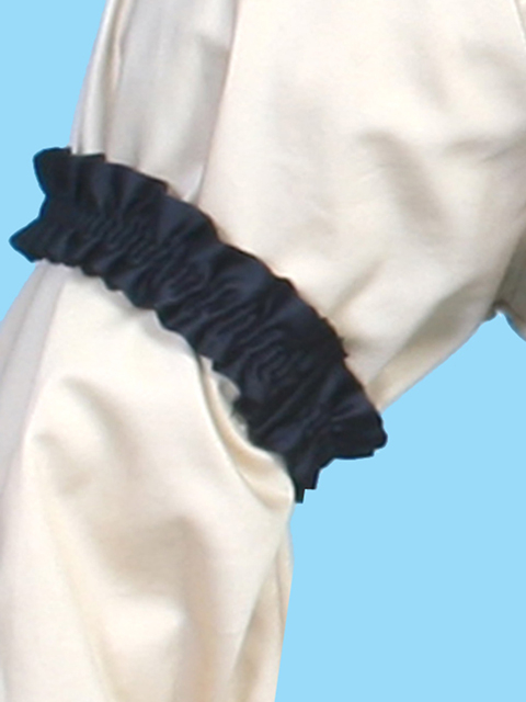 This pair of Scully Rangewear Black Sleeve Garters are made of polyester your classic Kentucky garters for a western wedding with the armbands for your groomsmen to go with their cowboy or old frontier vests