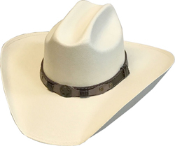 """The Texan"" Adult Canvas Cream Straw Cattleman Cowboy Hat is great for any occasion, a perfect simple cowboy hat to carry around and good for cowboys or cowgirls everywhere."
