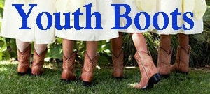 The Wild Cowboy page for Youth Clearance cowboy boots that are at a reduced price for final sale. Take advantage of the cheap youth boots at a discounted rate for youth sized western boots.