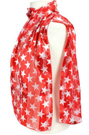 This Tone on Tone Red Vintage Western Star Scarf is an elegant look to your western outfit. Beautiful tone on tone silk with vintage stars on this western scarf.